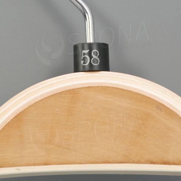 Minireitery 58, 25 ks, čierne, strieborná potlač