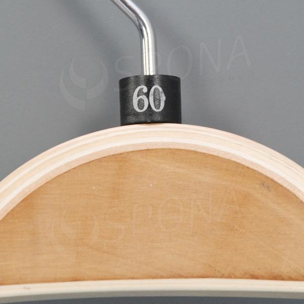 Minireitery 60, 25 ks, čierne, strieborná potlač