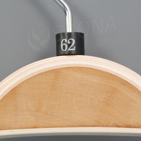 Minireitery 62, 25 ks, čierne, strieborná potlač