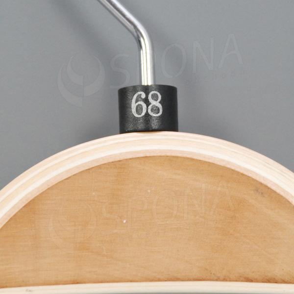 Minireitery 68, 25 ks, čierne, strieborná potlač