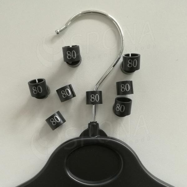 Minireitery 80, 25ks, čierne, strieborná potlač