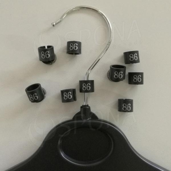 Minireitery 86, 25ks, čierne, strieborná potlač