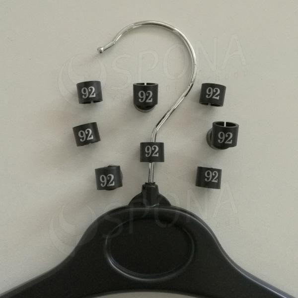 Minireitery 92, 25ks, čierne, strieborná potlač