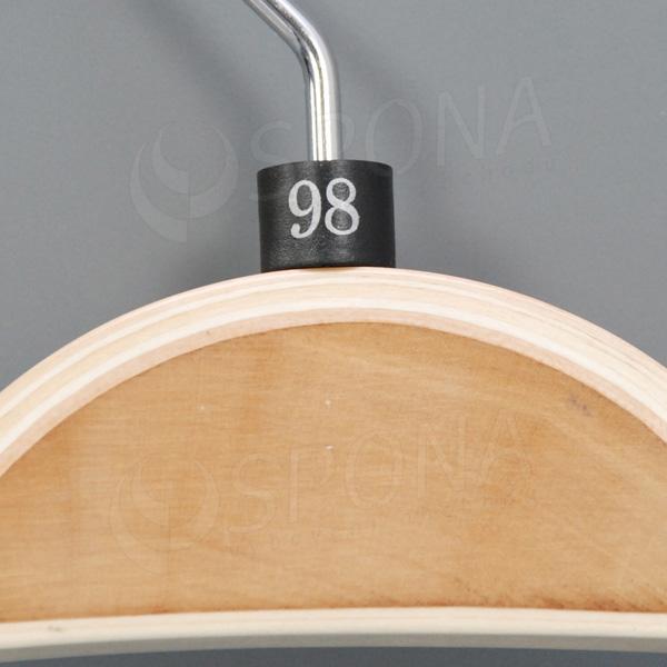 Minireitery 98, 25 ks, čierne, strieborná potlač