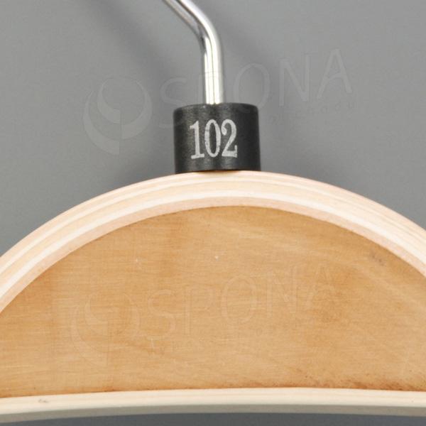 Minireitery 102, 25 ks, čierne, strieborná potlač