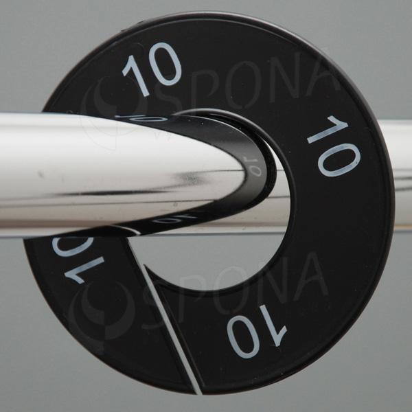 Veľkostné kruhy 10 čierne, biele písmo