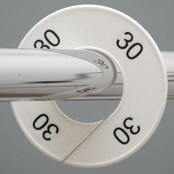 Veľkostné kruhy 30 biele, čierne písmo