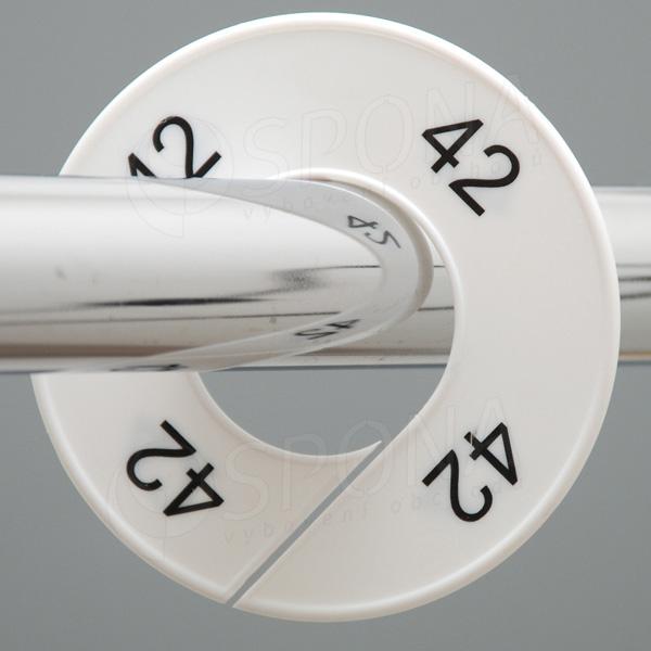 Veľkostné kruhy 42 biele, čierne písmo