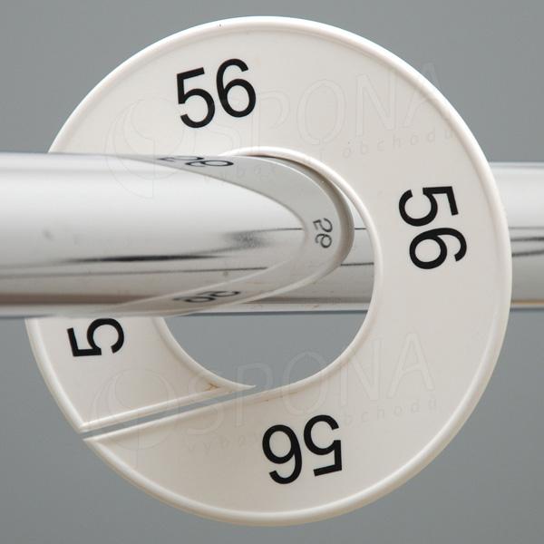 Veľkostné kruhy 56 biele, čierne písmo