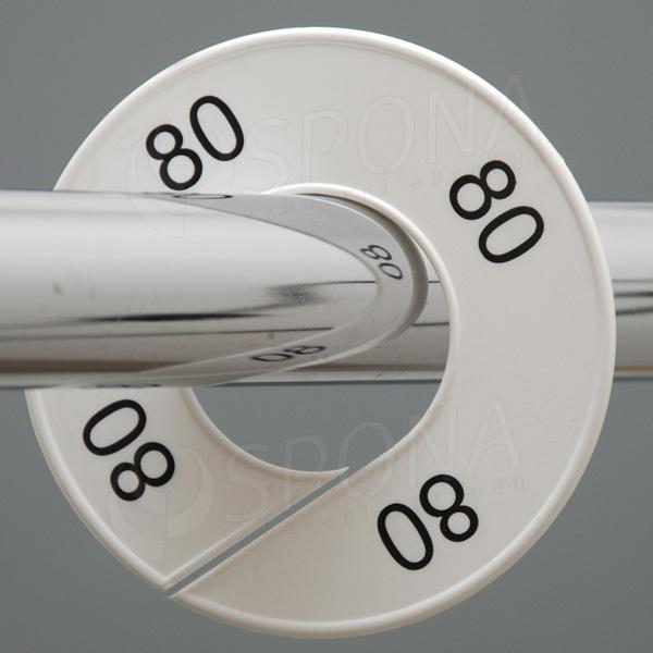 Veľkostné kruhy 80 biele, čierne písmo