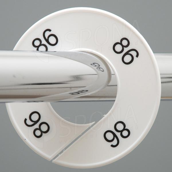 Veľkostné kruhy 86 biele, čierne písmo
