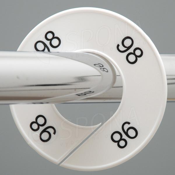 Veľkostné kruhy 98 biele, čierne písmo