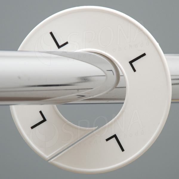Veľkostné kruhy L biele, čierne písmo