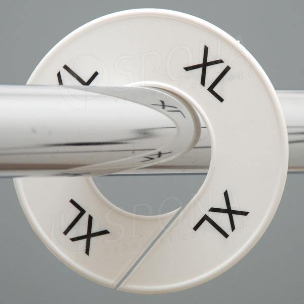 Veľkostné kruhy XL biele, čierne písmo