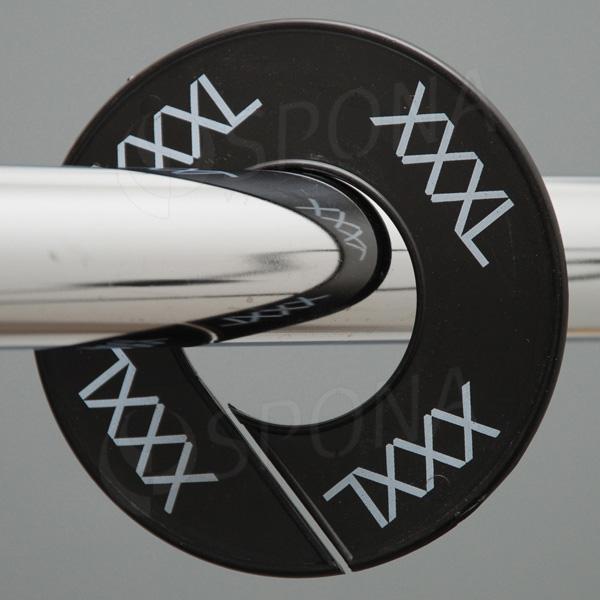 Veľkostné kruhy XXXL čierne, biele písmo