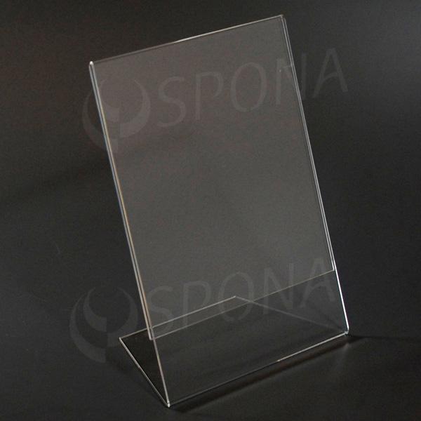 Plexisklový L stojanček A5 výška a šírka, 148 x 210 mm