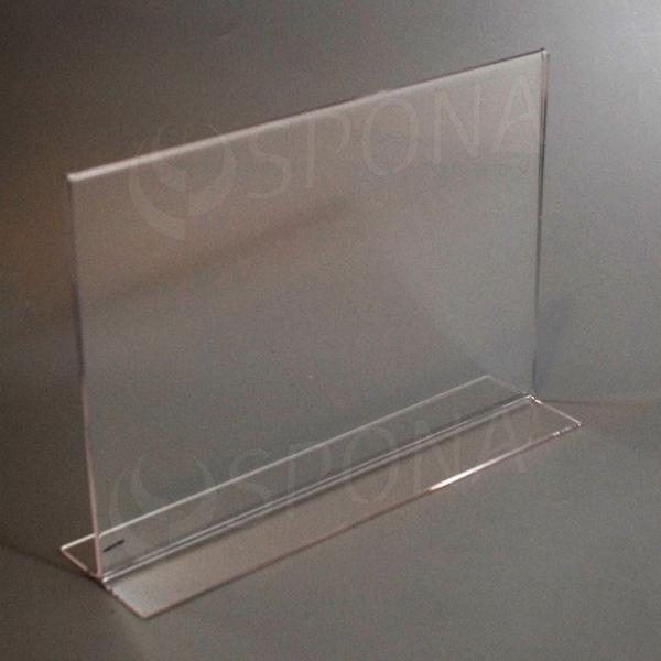 Plexisklový stojanček I  A4, na šírku, 210 x 297 mm