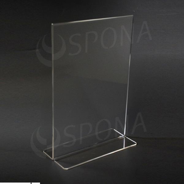 Plexisklový I stojanček A4 výška, 210 x 297 mm