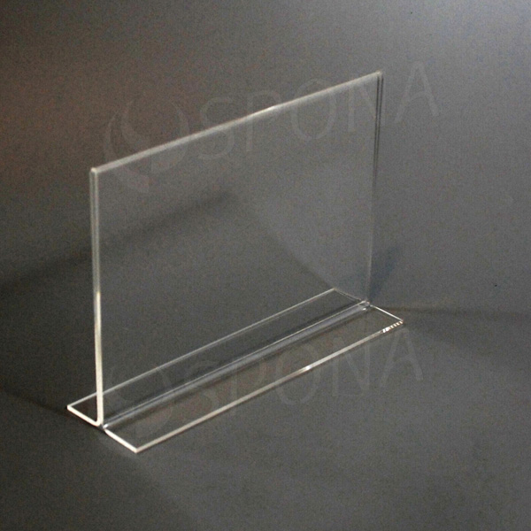 Plexisklový I stojanček A5 šírka, 210 x 148 mm