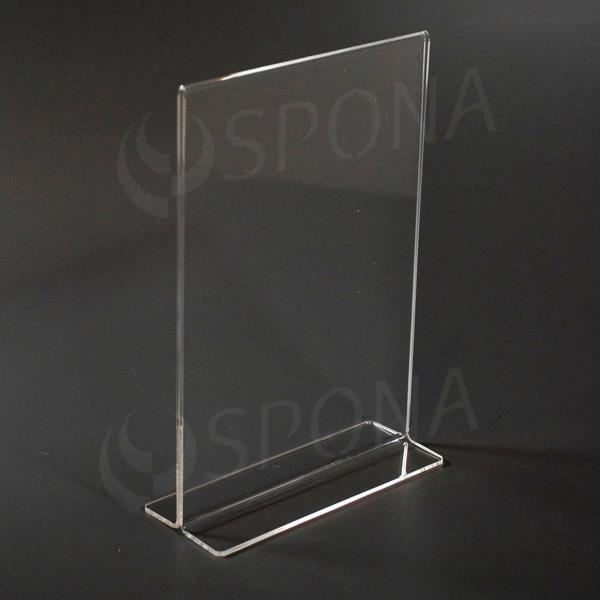 Plexisklový stojanček I  A5, na výšku, 210 x 148 mm