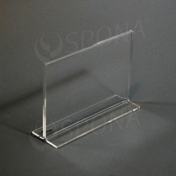 Plexisklový I stojanček A6 šírka, 148 x 105 mm