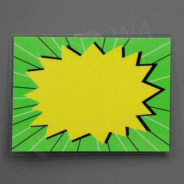 Cenovka plastová popisovacia, 13 x 10 cm