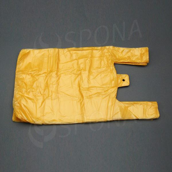Mikroténová taška HDPE, nosnosť 10 kg, žltá, 30 + 16 x 50 cm, 100 ks