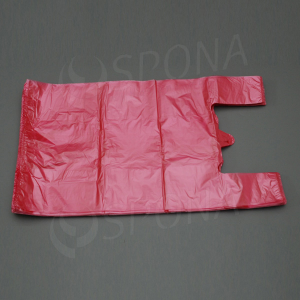 Taška 12 kg HDPE, červená, 33 + 16 x 60 cm, 100 ks