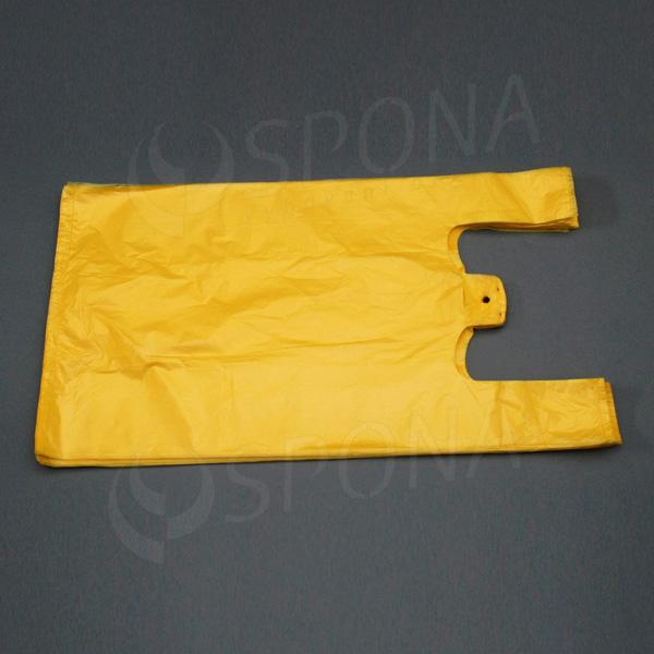 Mikroténová taška HDPE, nosnosť 12 kg, žltá, 33 + 16 x 60 cm, 100 ks