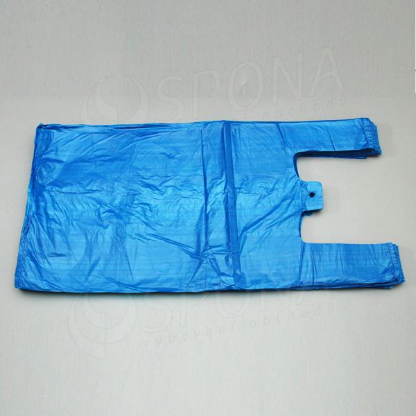 Mikroténová taška HDPE, nosnosť 15 kg, modrá, 33 + 20 x 69 cm, 100 ks