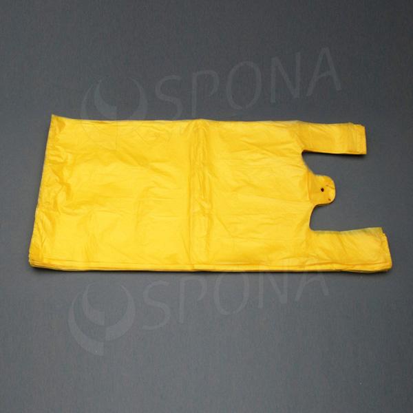 Mikroténová taška HDPE, nosnosť 15 kg, žltá, 33 + 20 x 69 cm, 100 ks
