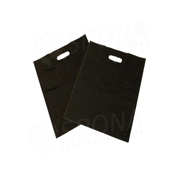 Igelitová taška LDPE, 20 x 30 + 5 čierna