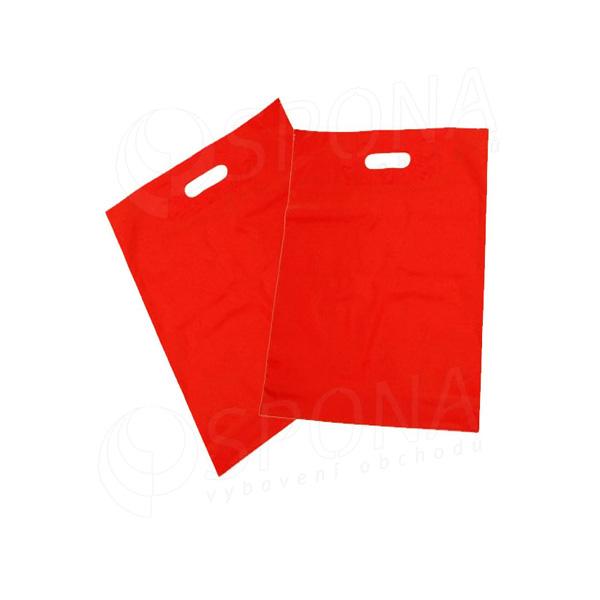 Igelitová taška LDPE, 20 x 30 + 5 červená