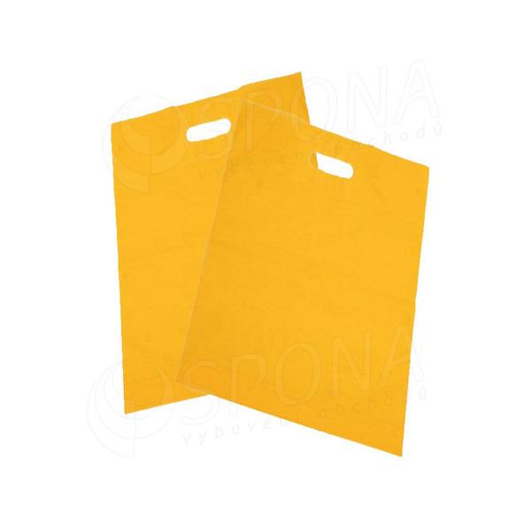 Igelitová taška LDPE, 20 x 30 + 5 žltá