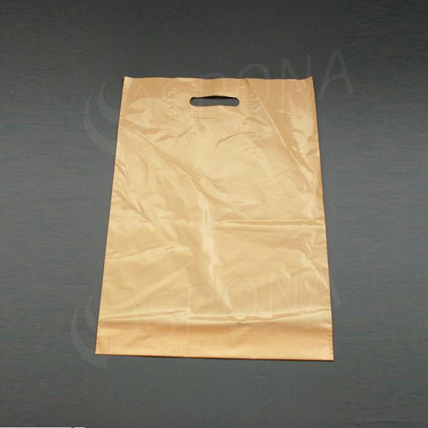 Igelitová taška LDPE, 35 x 50 + 5 cm, béžová