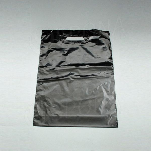 Igelitová taška LDPE, 35 x 50 + 5, čierna
