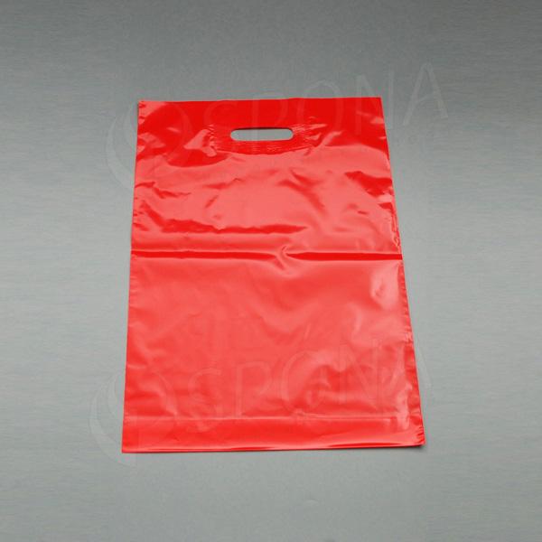 Taška LDPE 35 x 50 + 5 cm, červená