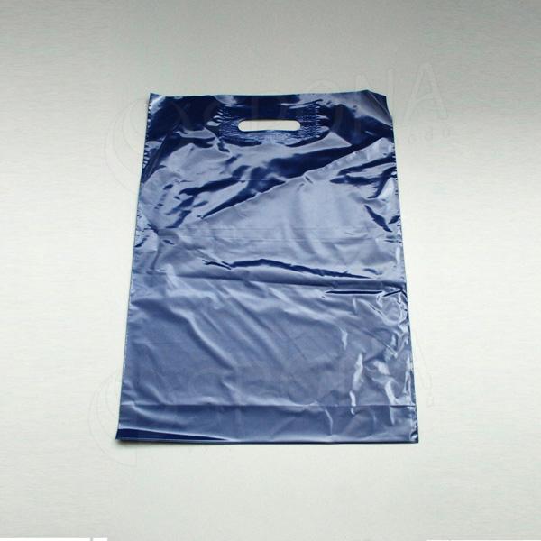 Igelitová taška LDPE, 35 x 50 + 5 cm, tmavo modrá