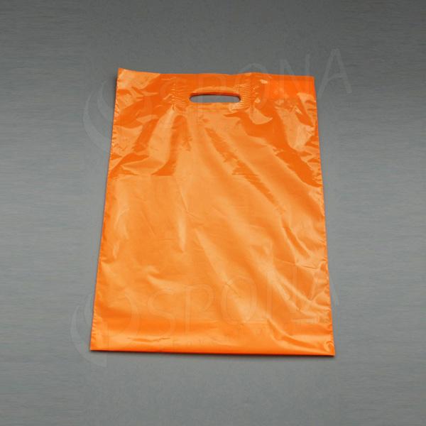 Taška LDPE 35 x 50 + 5 cm, oranžová