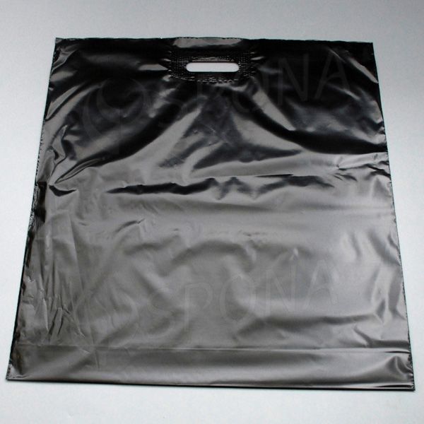 Igelitová taška LDPE, 55 x 55 + 5 cm, čierna