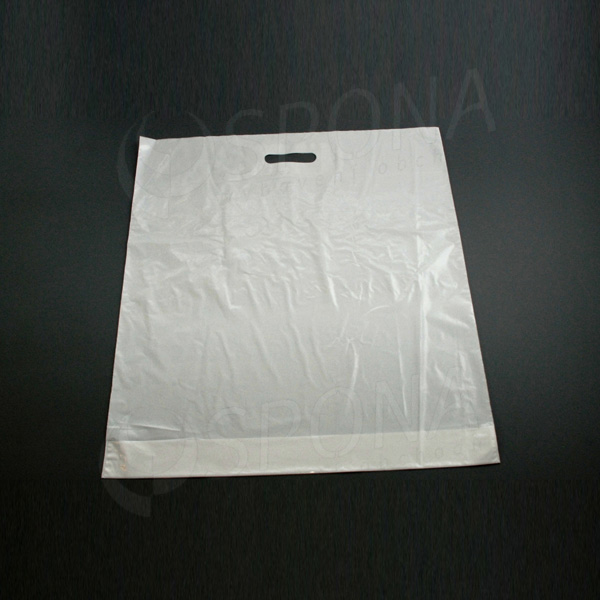 Igelitová taška LDPE, 55 x 60 + 5 cm, biela
