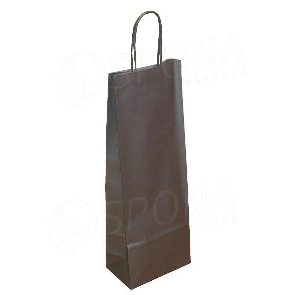 Taška papierová na víno 14+9+39 cm, 120 gr., strieborná