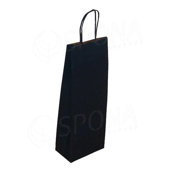 Taška papierová na víno 14+9+39 cm, 120 gr., modrá navy