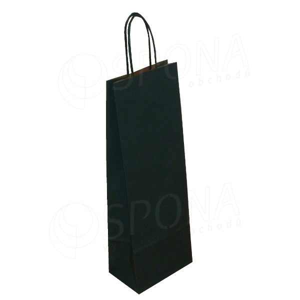Taška papierová na víno 14+9+39 cm, 120 gr., tmavo zelená