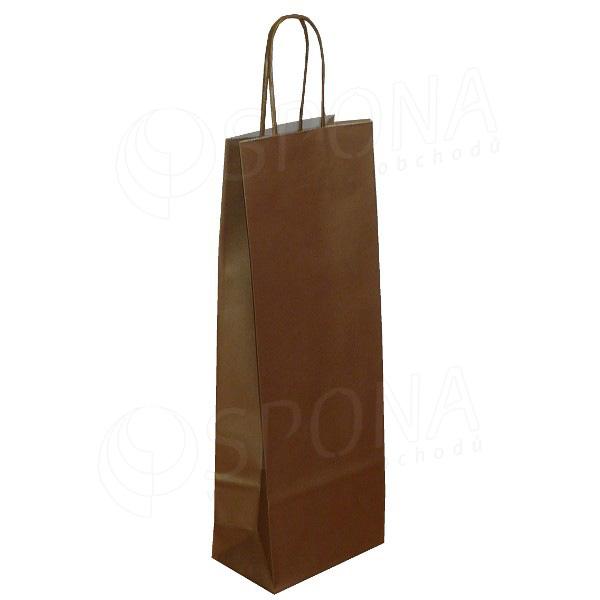Taška papierová na víno 14+9+39 cm, 120 gr., zlatá
