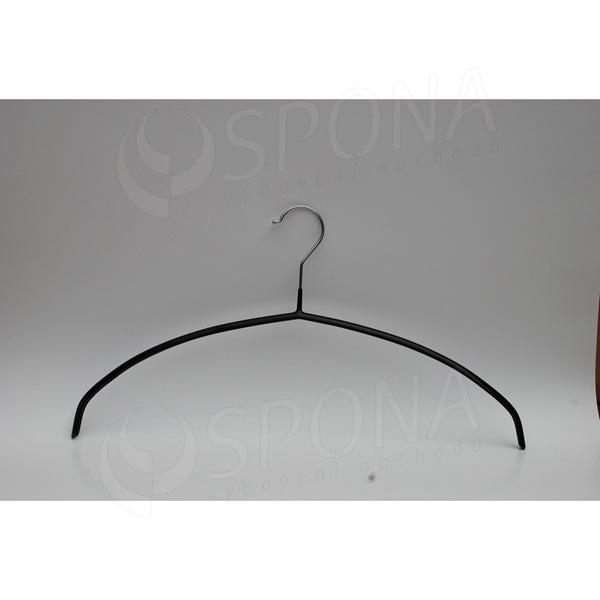 Kovový vešiak s plastom čierny 46 cm, 8314
