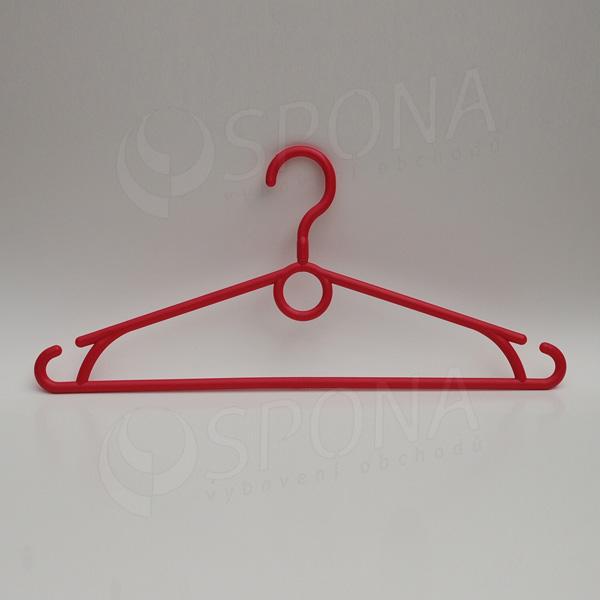 Plastový vešiak 40 cm, otočný hák, červený