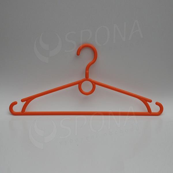 Plastový vešiak 40 cm, otočný hák, oranžový