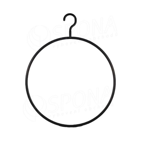 """Plastový vešiak """"kruh"""" 37 cm čierne"""