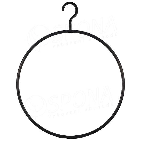 """Plastový vešiak """"kruh"""" 41 cm čierny"""